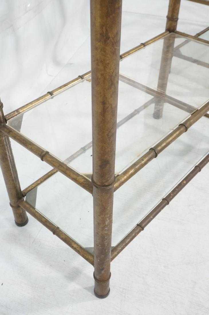 Pr Faux Bamboo Metal Etagere Display Units. Antiq - 7