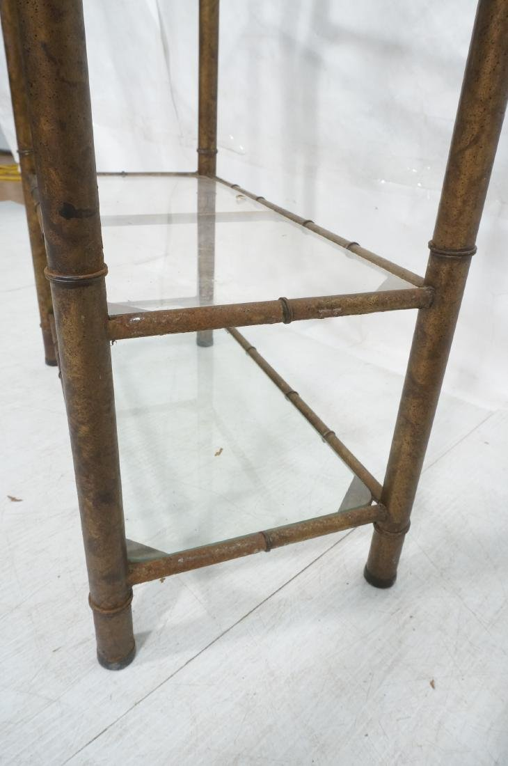 Pr Faux Bamboo Metal Etagere Display Units. Antiq - 9