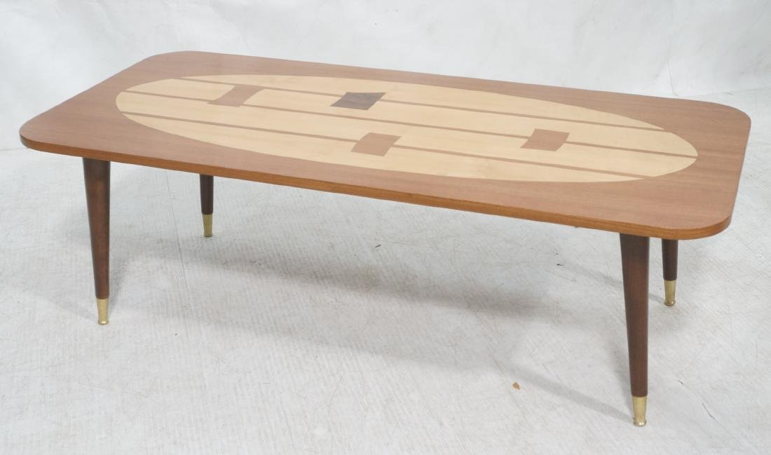 Italian Modern Modernist Inlay Cocktail Table. Co