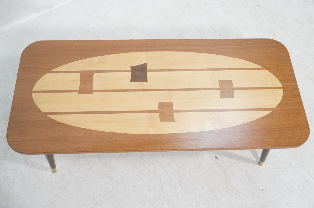 Italian Modern Modernist Inlay Cocktail Table. Co - 3