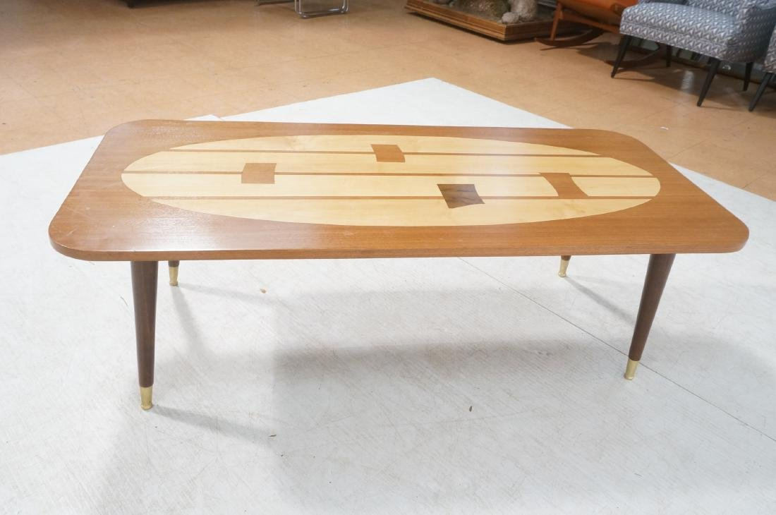 Italian Modern Modernist Inlay Cocktail Table. Co - 5