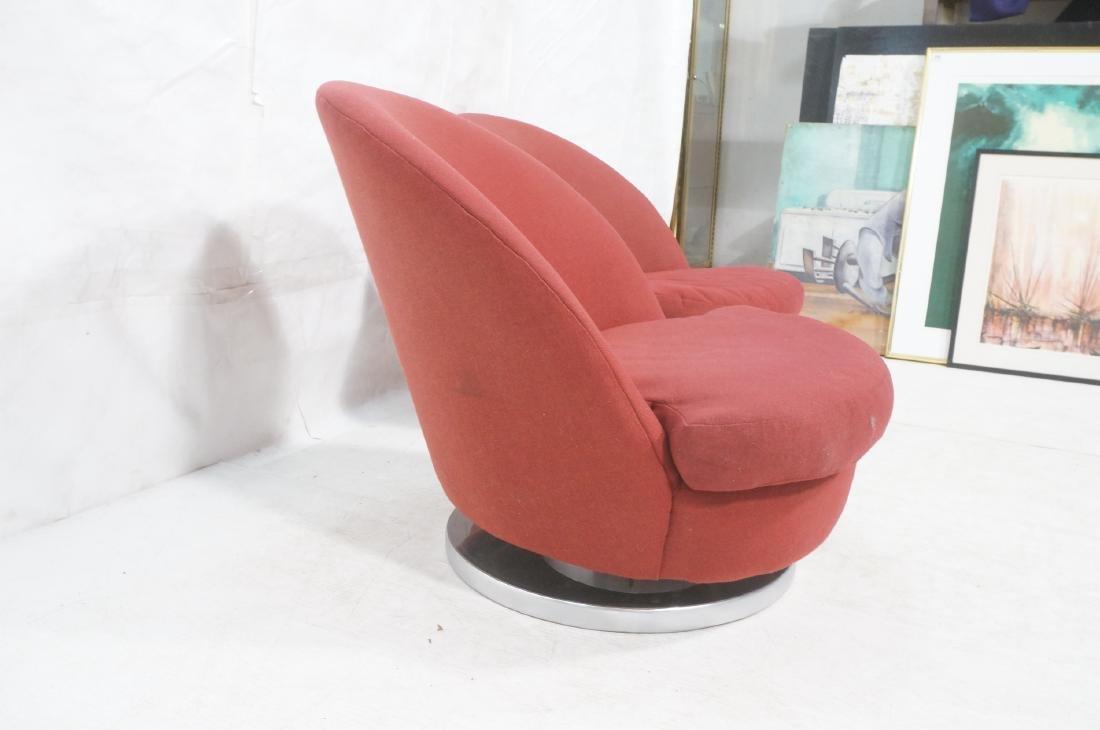Pr Milo Baughman Lounge Chairs. Swivel Modernist - 3