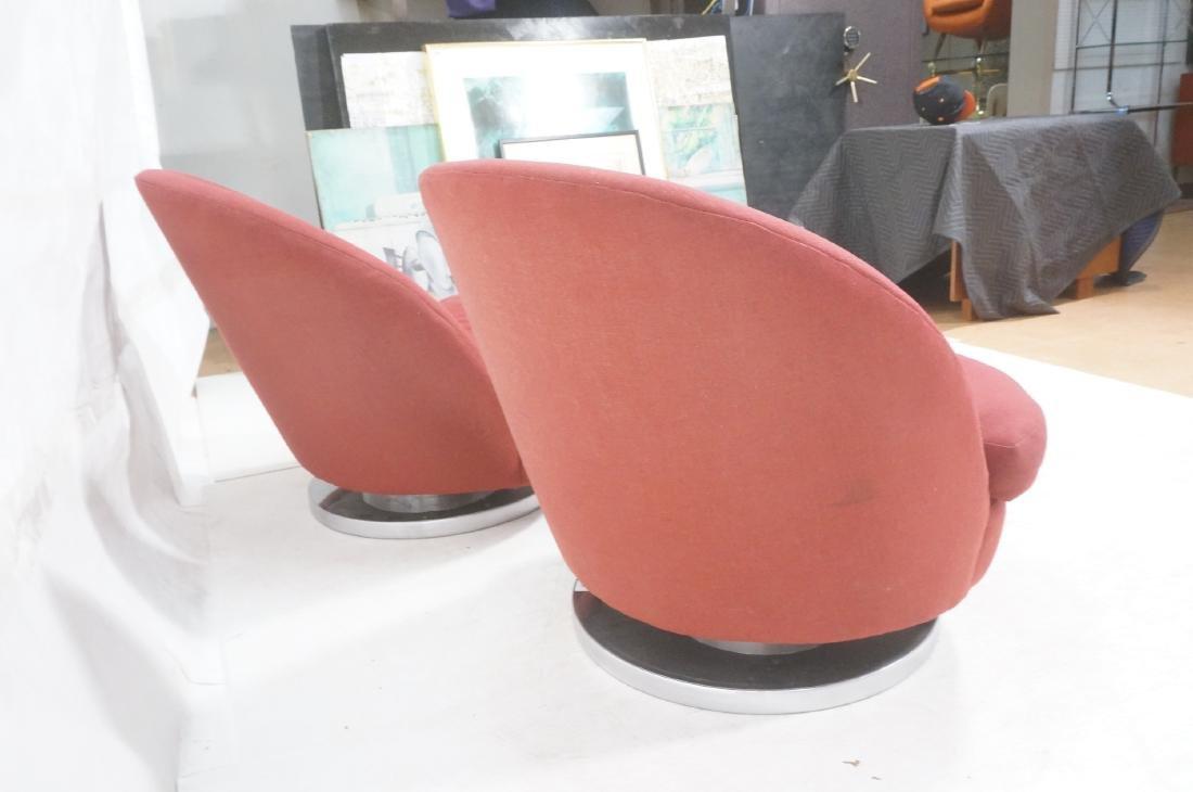 Pr Milo Baughman Lounge Chairs. Swivel Modernist - 4