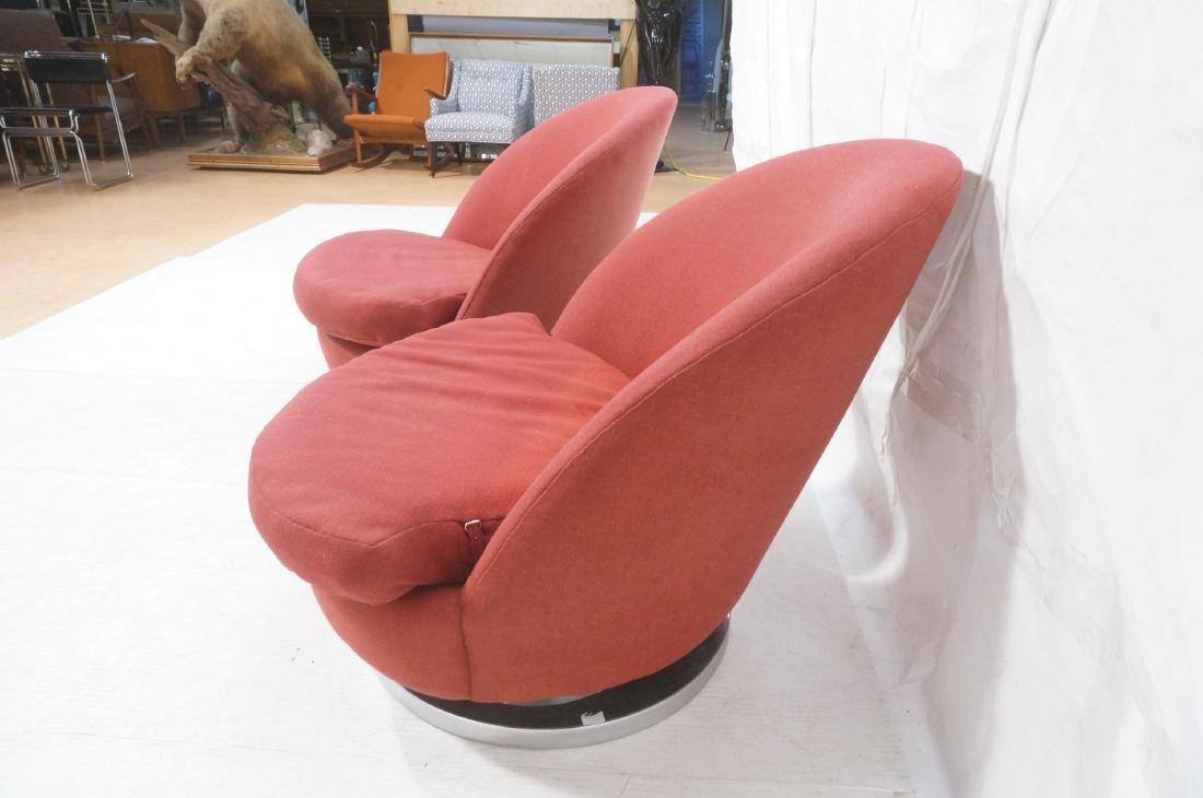 Pr Milo Baughman Lounge Chairs. Swivel Modernist - 5