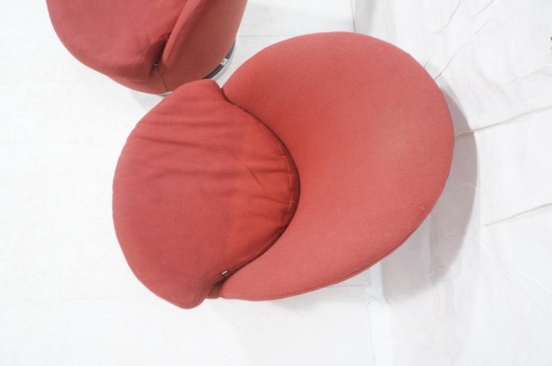 Pr Milo Baughman Lounge Chairs. Swivel Modernist - 6