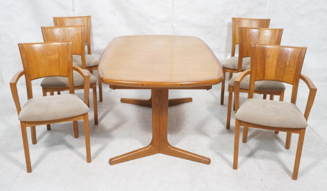 7pc PJ Danish Teak Modernist Dining Set. Banded T