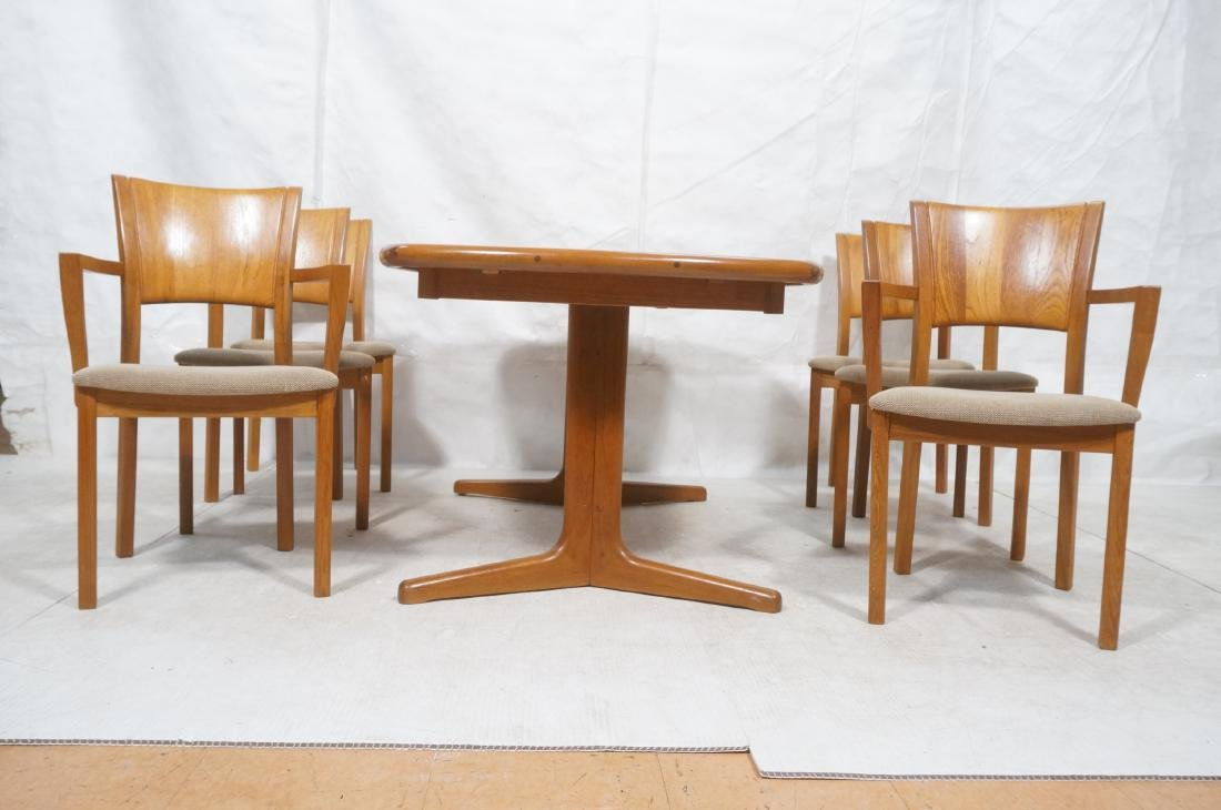 7pc PJ Danish Teak Modernist Dining Set. Banded T - 2