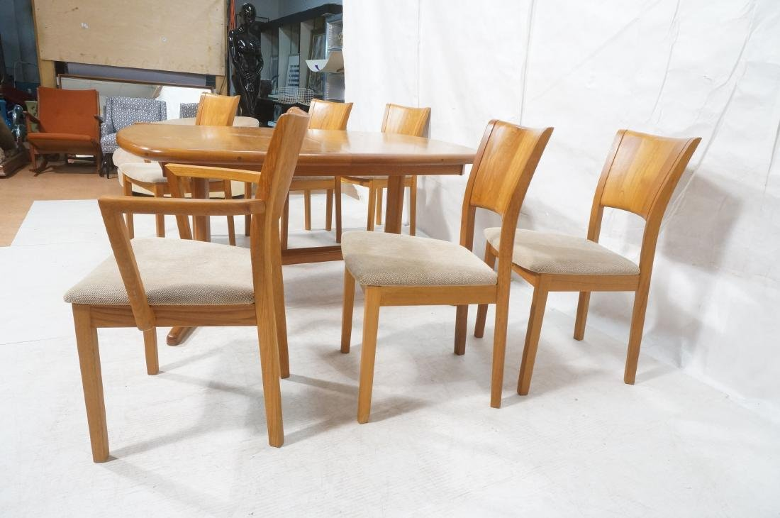 7pc PJ Danish Teak Modernist Dining Set. Banded T - 3