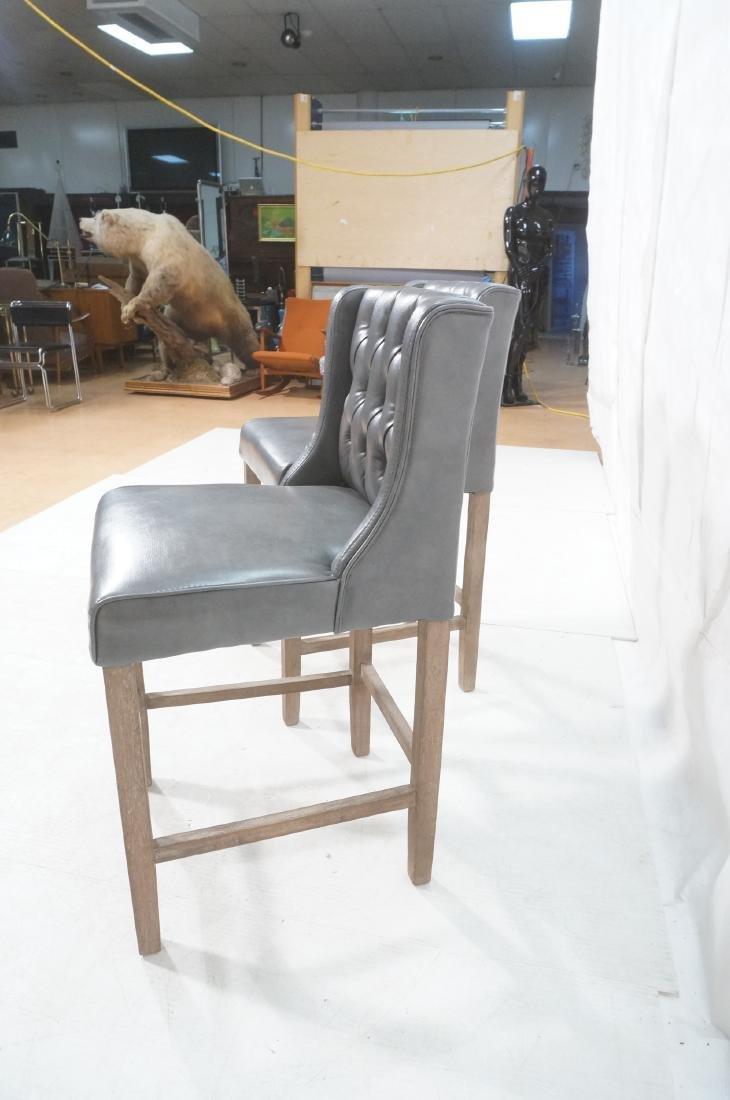 Pr RK HOME Contemporary Bar Stools. Tufted gray v - 5