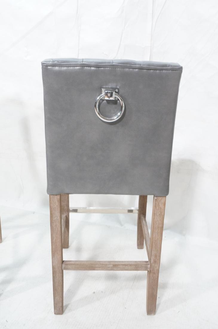 Pr RK HOME Contemporary Bar Stools. Tufted gray v - 6