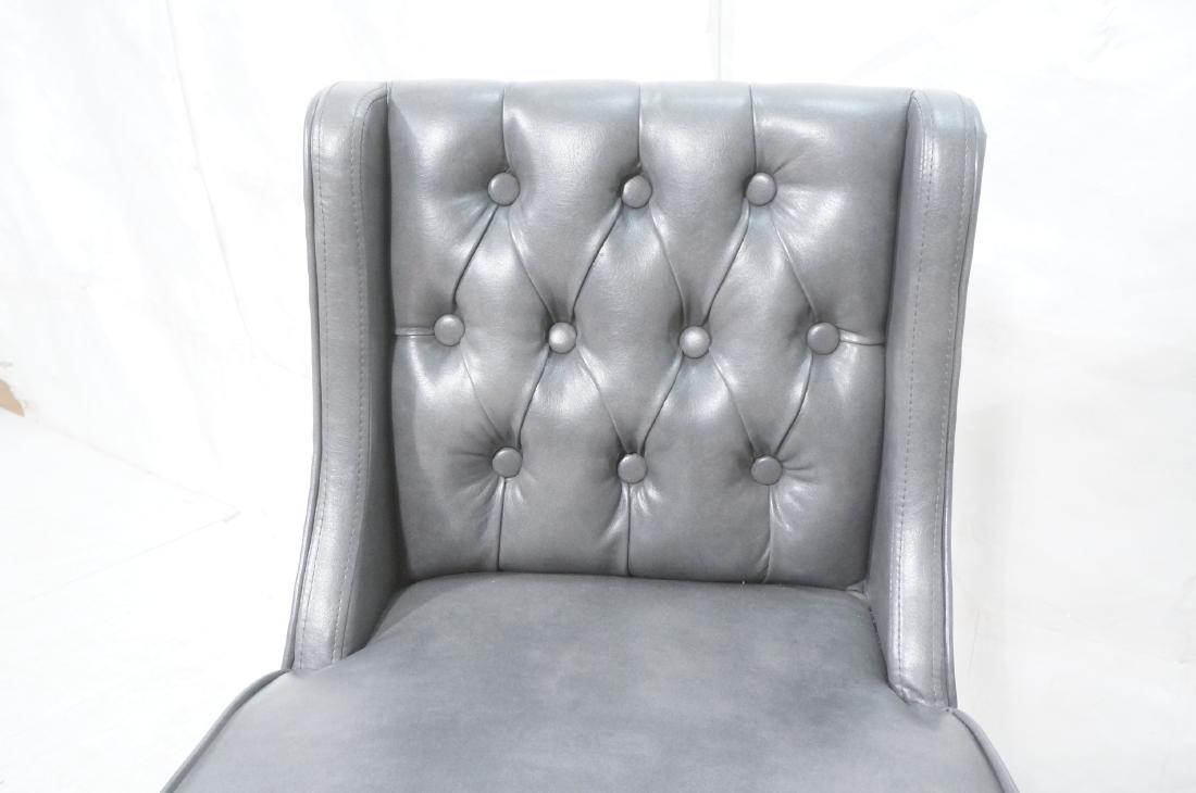Pr RK HOME Contemporary Bar Stools. Tufted gray v - 7
