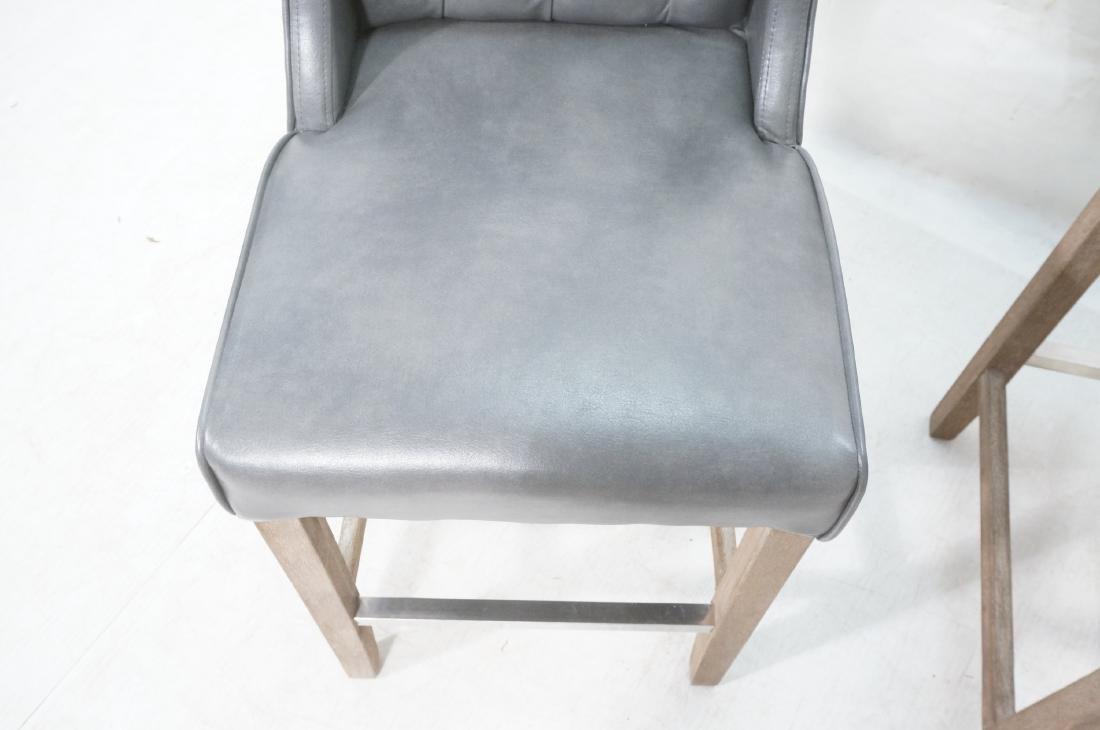 Pr RK HOME Contemporary Bar Stools. Tufted gray v - 8