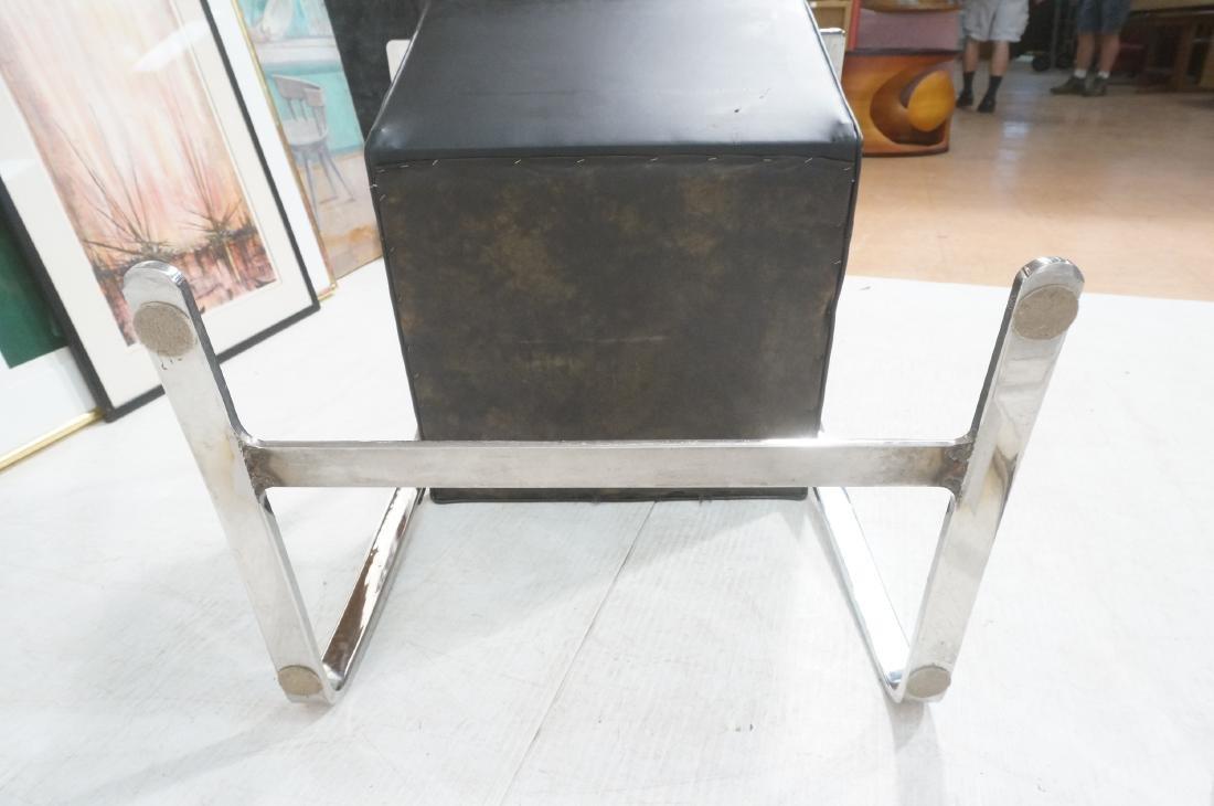 4 BRNO Black Vinyl Chrome Arm Chairs. Modernist c - 9