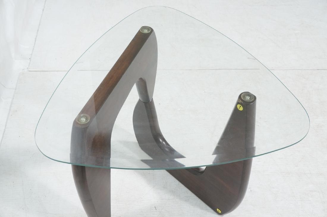 Pr ISAMU NOGUCHI Style Glass top Side Tables. Hin - 6