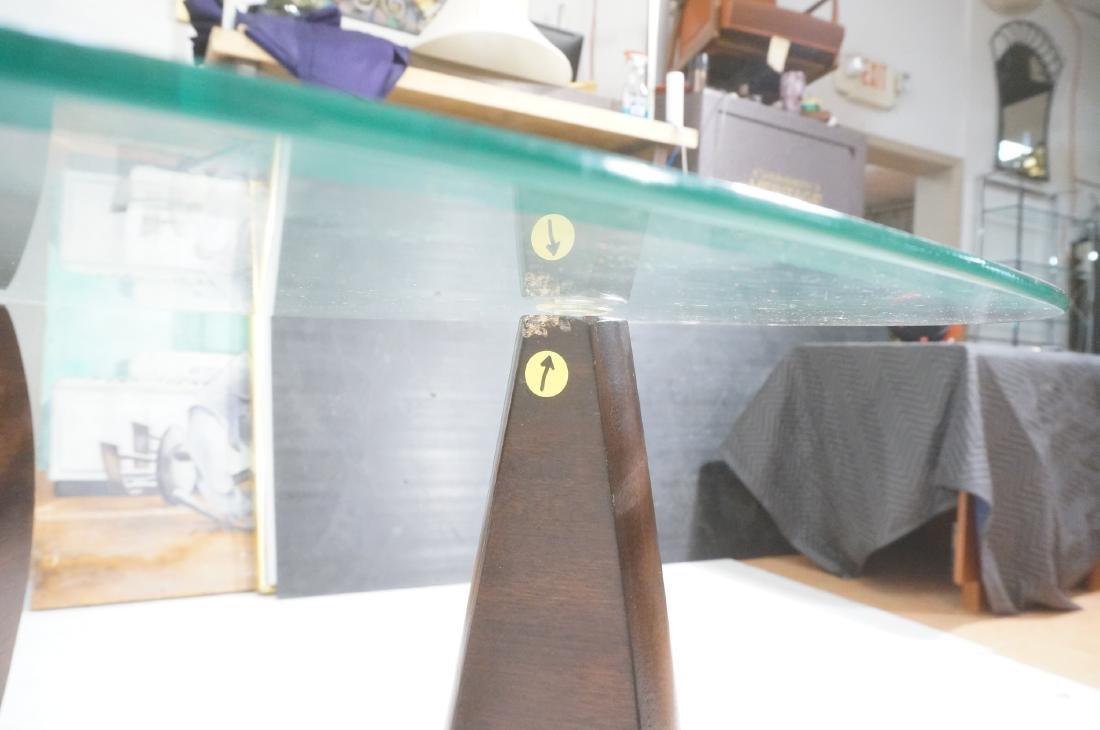 Pr ISAMU NOGUCHI Style Glass top Side Tables. Hin - 7