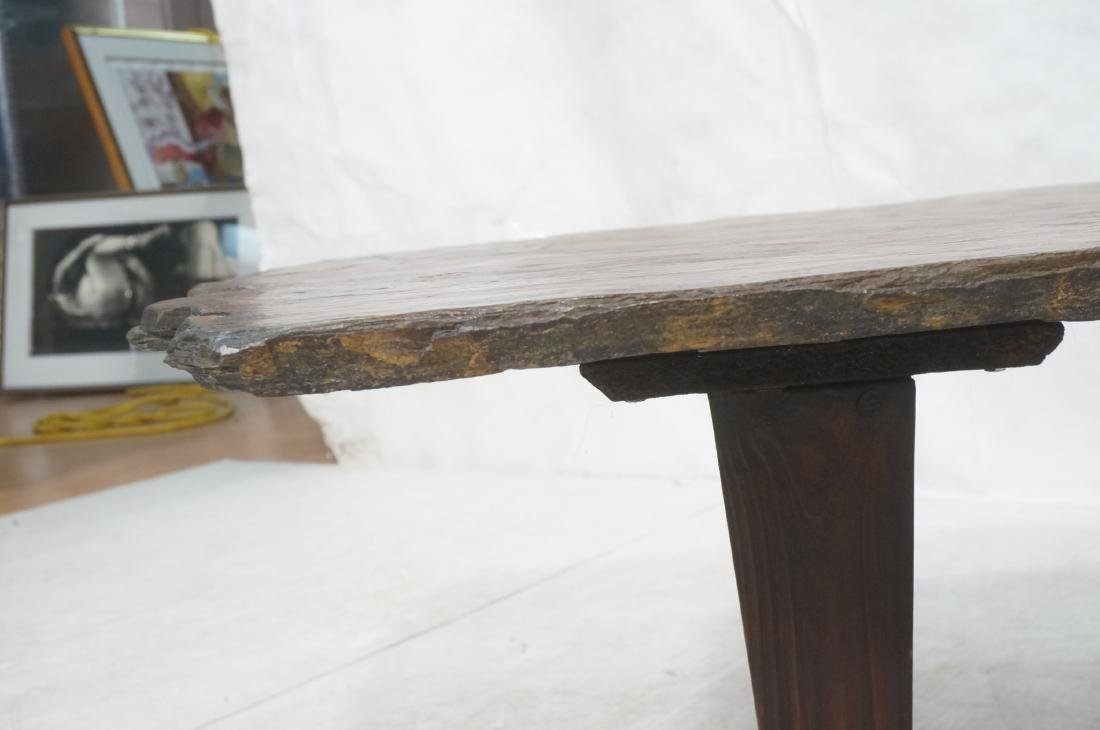 Modernist Slate Top Cocktail Coffee Table. Wedge - 10