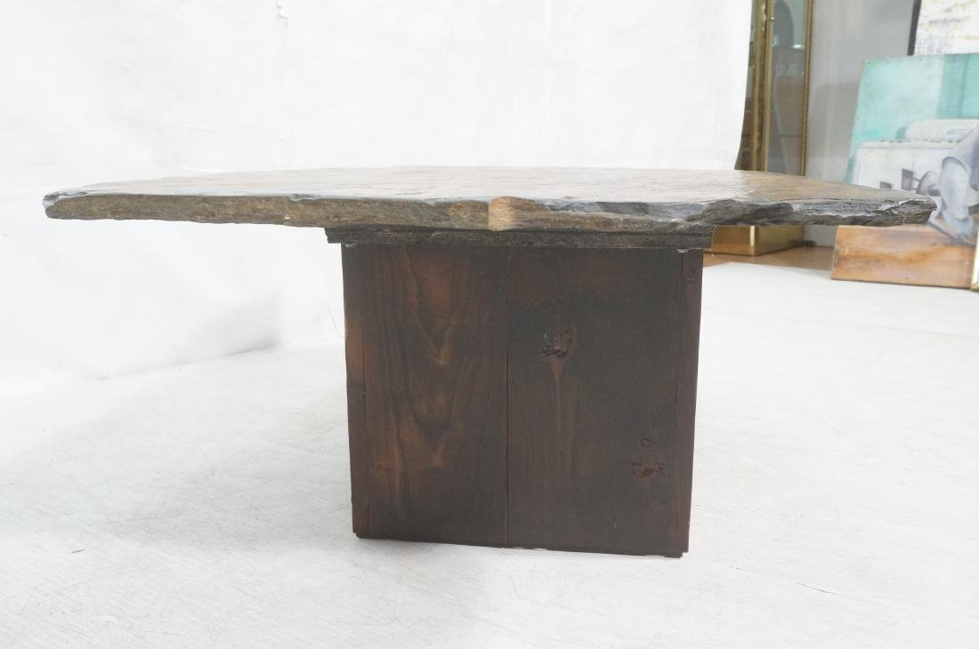 Modernist Slate Top Cocktail Coffee Table. Wedge - 4