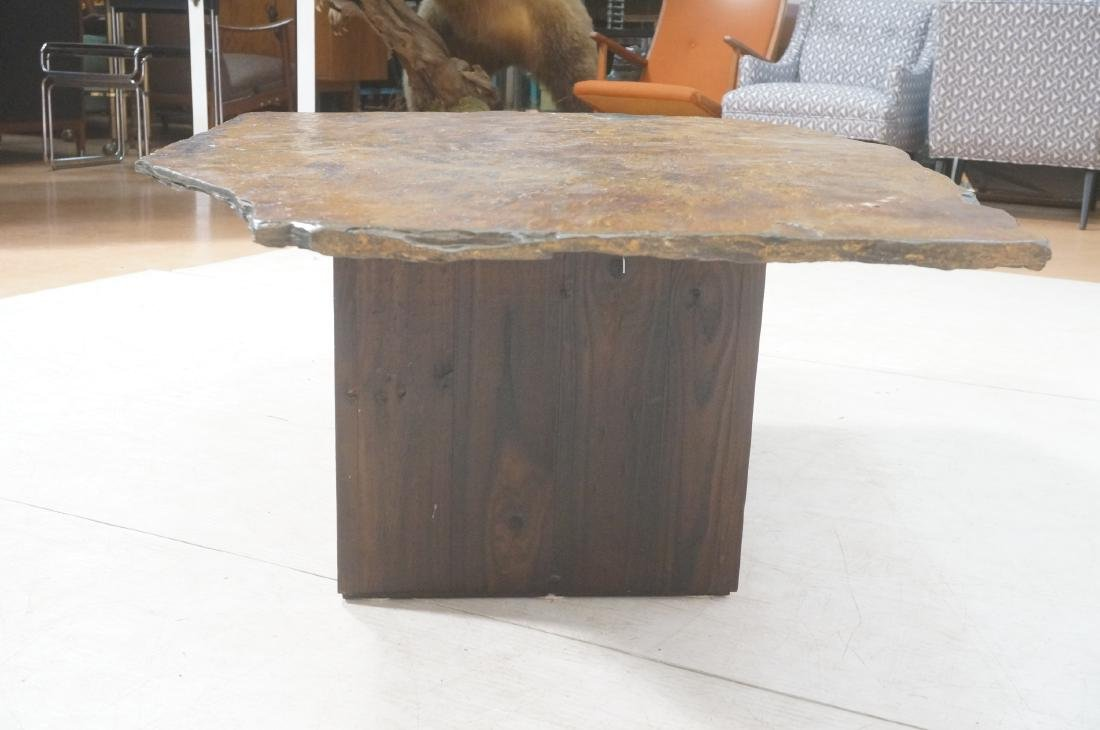 Modernist Slate Top Cocktail Coffee Table. Wedge - 6
