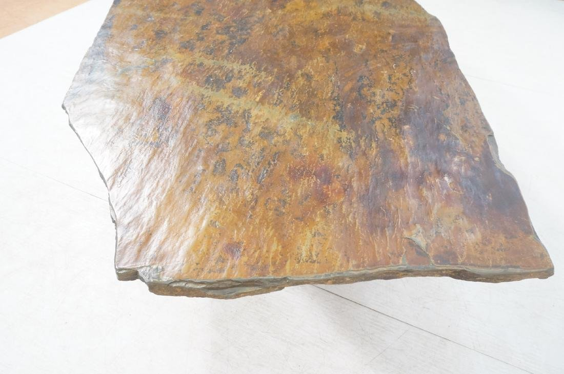 Modernist Slate Top Cocktail Coffee Table. Wedge - 7