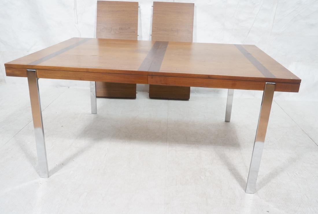 American Modern Walnut Dining Table Rosewood Band