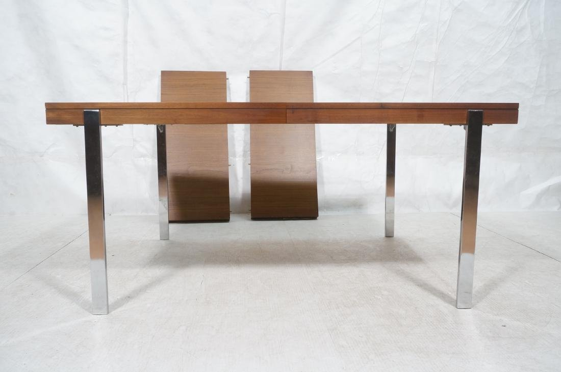 American Modern Walnut Dining Table Rosewood Band - 2
