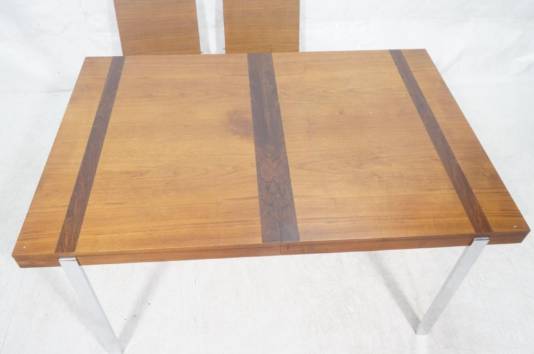 American Modern Walnut Dining Table Rosewood Band - 3