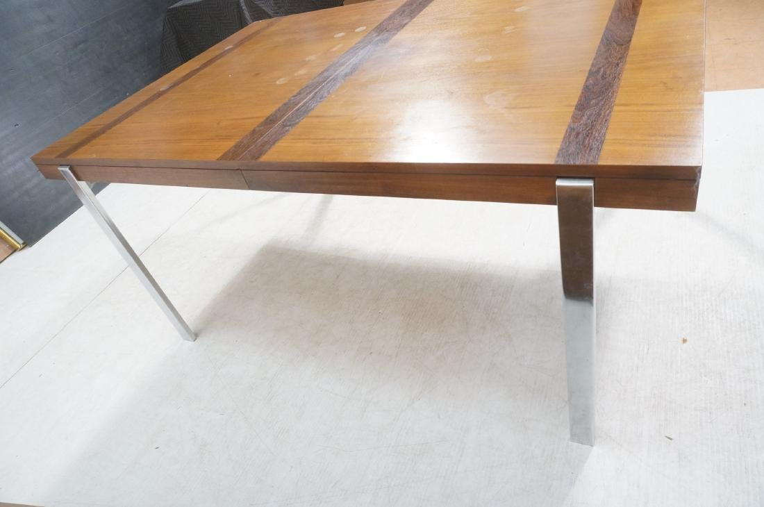 American Modern Walnut Dining Table Rosewood Band - 5