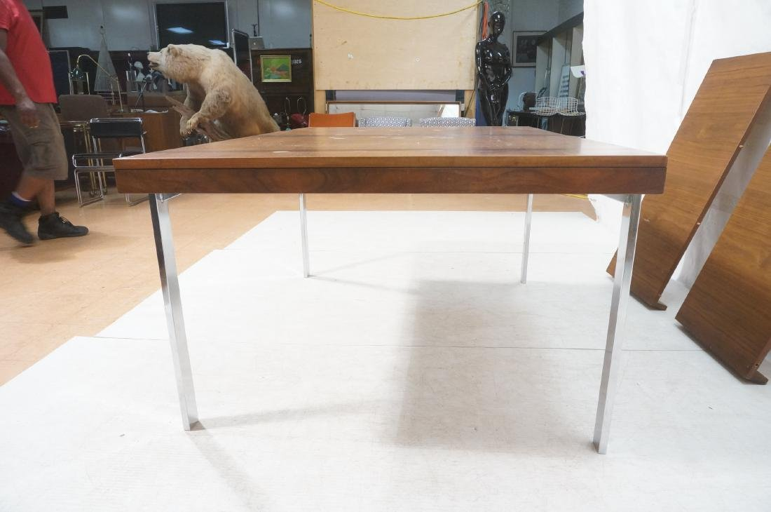 American Modern Walnut Dining Table Rosewood Band - 6