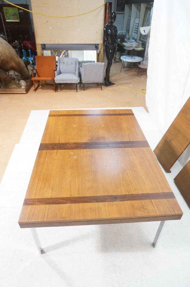 American Modern Walnut Dining Table Rosewood Band - 7