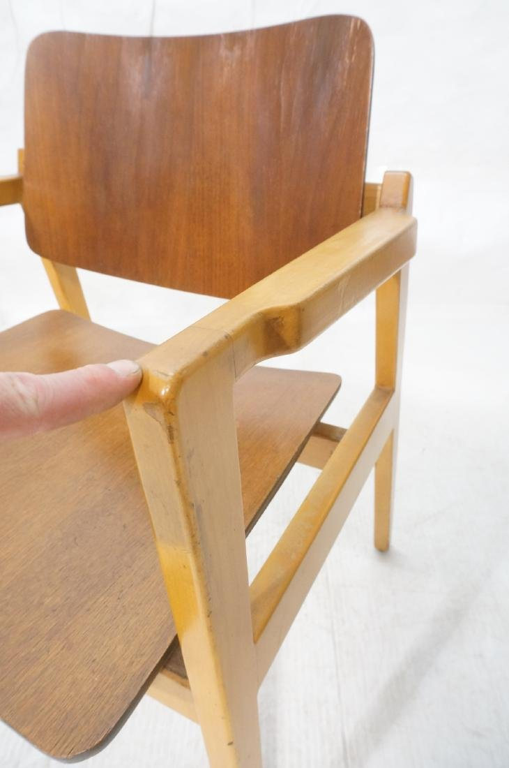 Pr JENS RISOM Modernist Walnut Arm Lounge Chairs. - 10