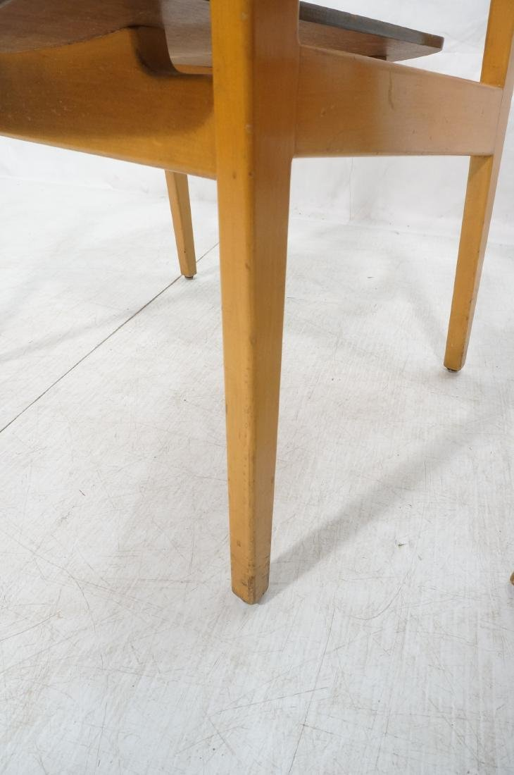 Pr JENS RISOM Modernist Walnut Arm Lounge Chairs. - 7