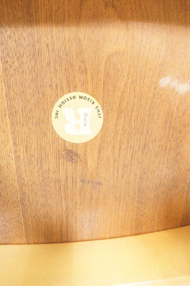 Pr JENS RISOM Modernist Walnut Arm Lounge Chairs. - 9