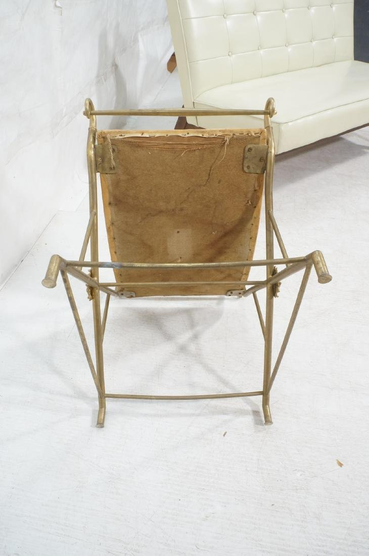 Regency Style Brass Foot Stool Bench X base with - 9