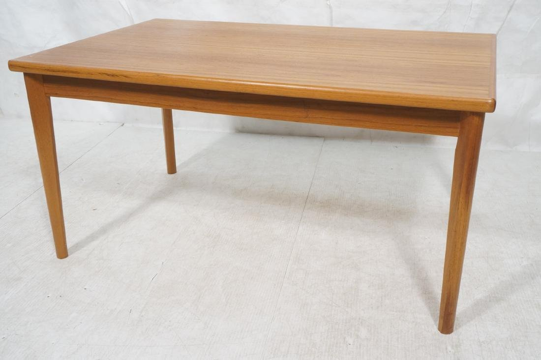 Danish Teak Dining Table. Hidden Refractory Style