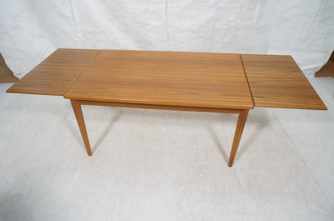 Danish Teak Dining Table. Hidden Refractory Style - 6