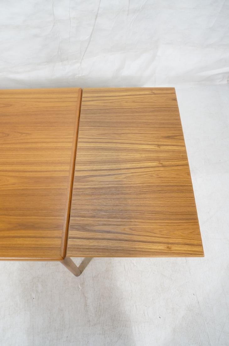 Danish Teak Dining Table. Hidden Refractory Style - 7