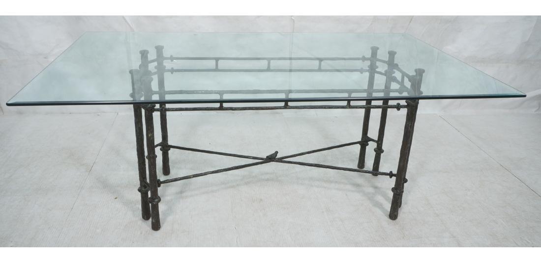 ILANA GOOR Style Wrought Iron Dining Table. Bevel