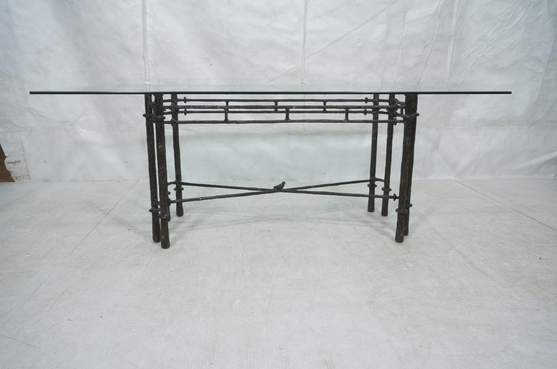 ILANA GOOR Style Wrought Iron Dining Table. Bevel - 2