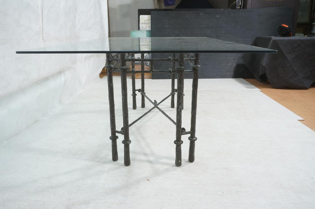 ILANA GOOR Style Wrought Iron Dining Table. Bevel - 3