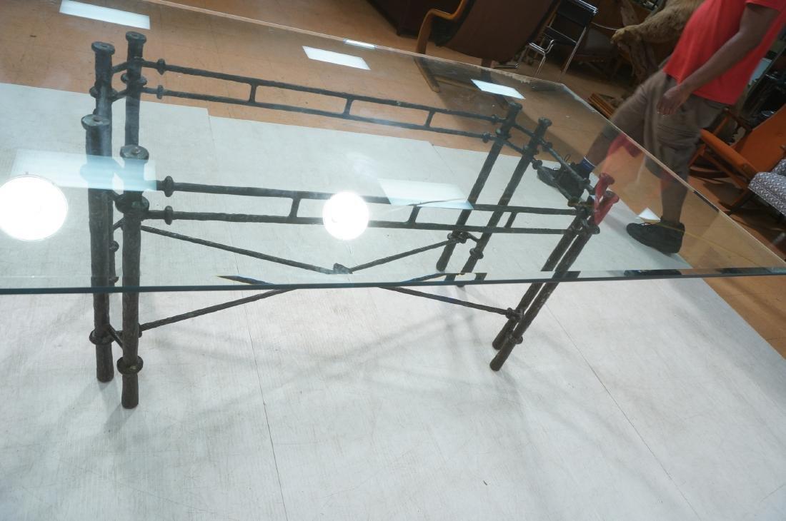 ILANA GOOR Style Wrought Iron Dining Table. Bevel - 4