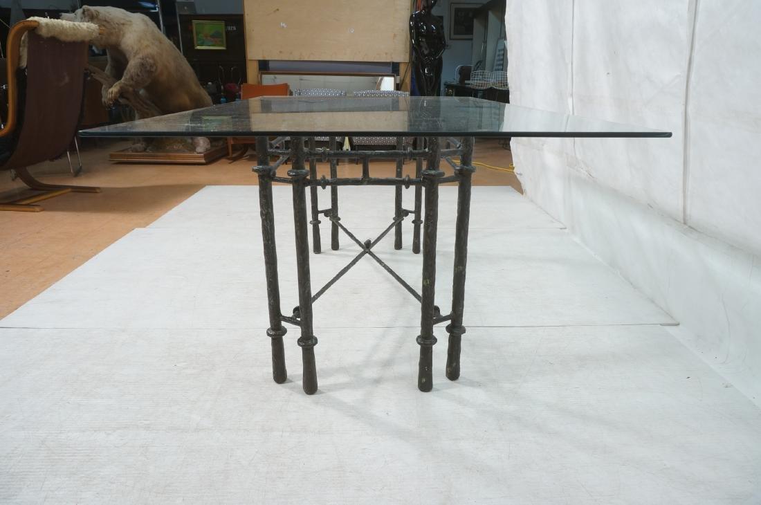 ILANA GOOR Style Wrought Iron Dining Table. Bevel - 5