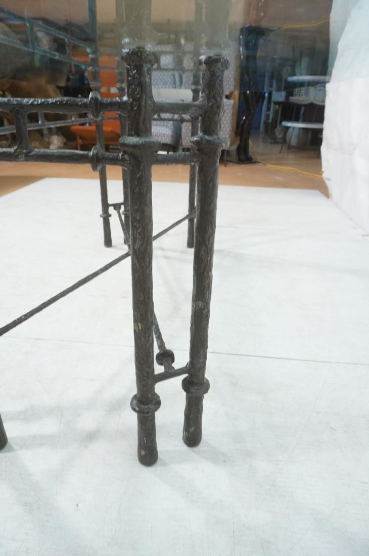 ILANA GOOR Style Wrought Iron Dining Table. Bevel - 6