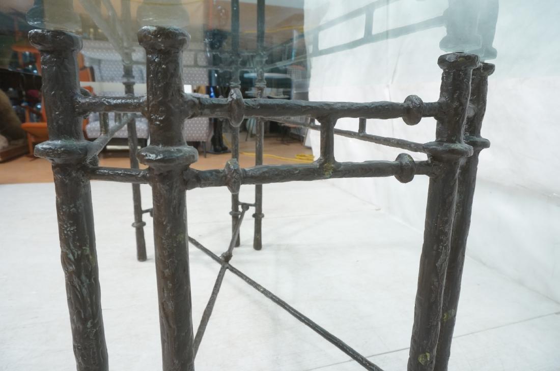 ILANA GOOR Style Wrought Iron Dining Table. Bevel - 7
