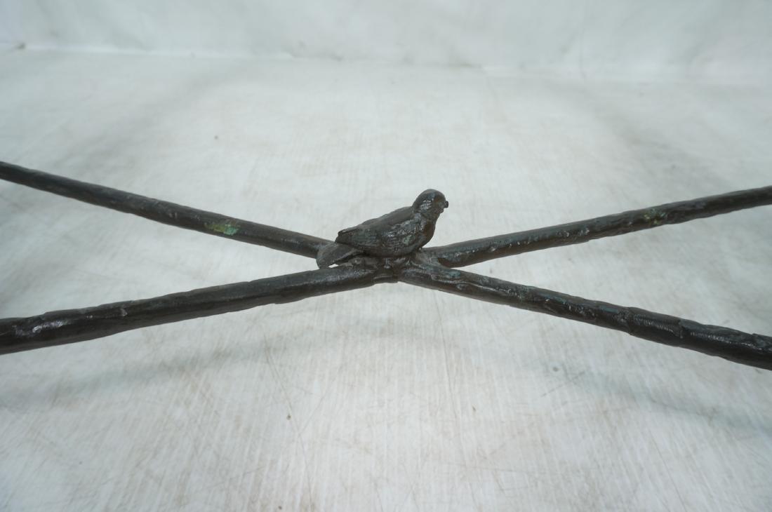 ILANA GOOR Style Wrought Iron Dining Table. Bevel - 8