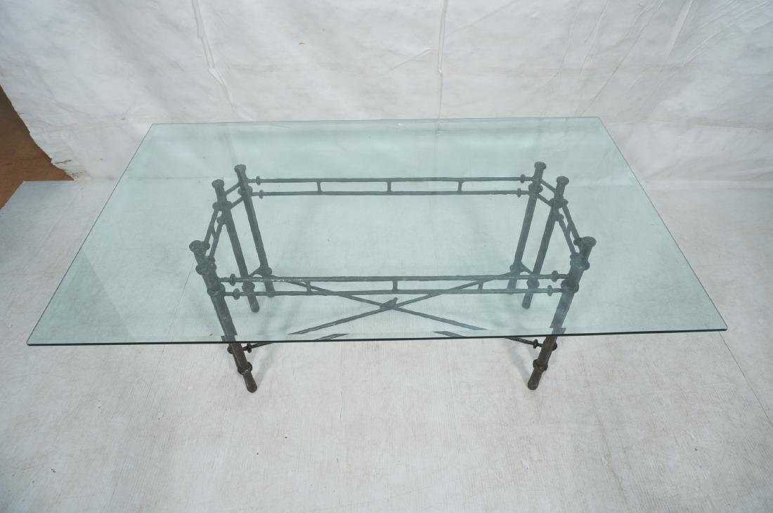 ILANA GOOR Style Wrought Iron Dining Table. Bevel - 9