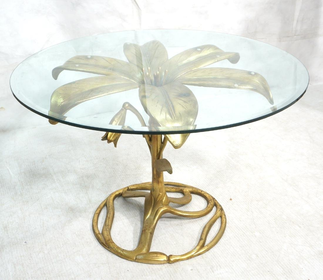 ARTHUR COURT Style Figural Lily Form Dining Table