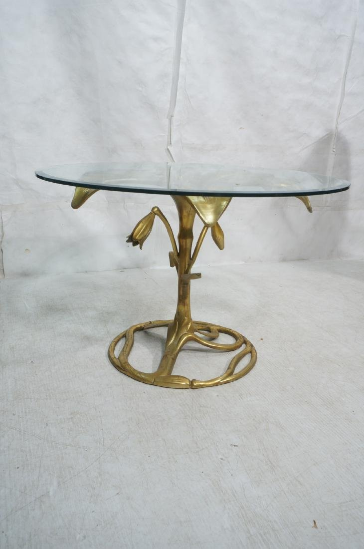 ARTHUR COURT Style Figural Lily Form Dining Table - 2