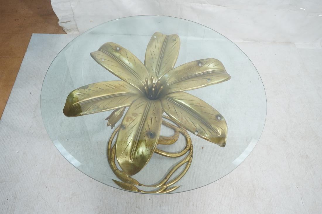 ARTHUR COURT Style Figural Lily Form Dining Table - 6