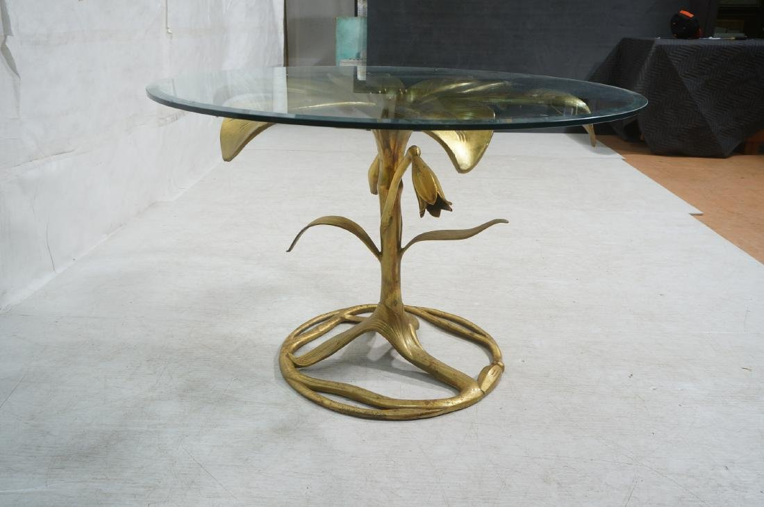 ARTHUR COURT Style Figural Lily Form Dining Table - 7