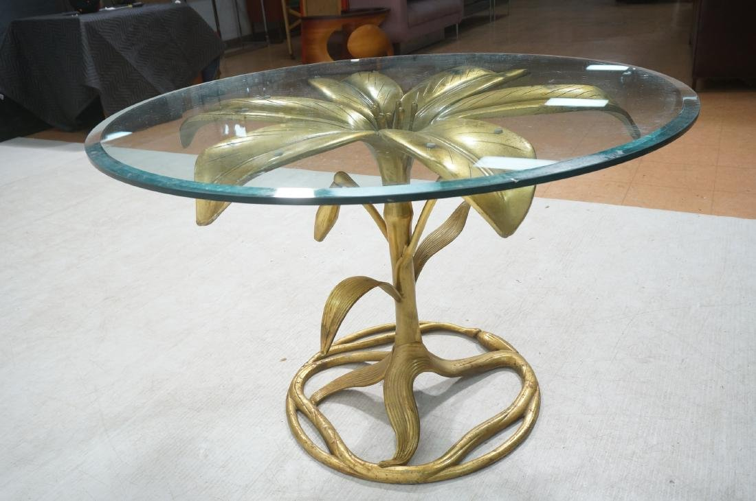 ARTHUR COURT Style Figural Lily Form Dining Table - 8
